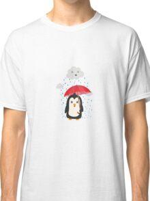 Penguin in the rain   Classic T-Shirt