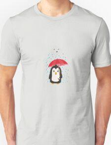 Penguin in the rain   Unisex T-Shirt