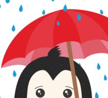 Penguin in the rain   Sticker