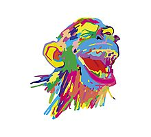 Laughing Ape – Multicoloured Photographic Print