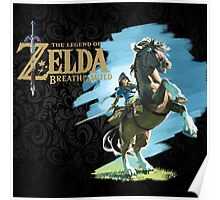 The Legend of Zelda: Breath of the Wild - Link & Logo Poster