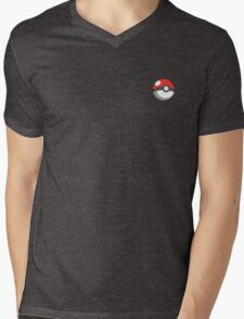 pokeball badge Mens V-Neck T-Shirt