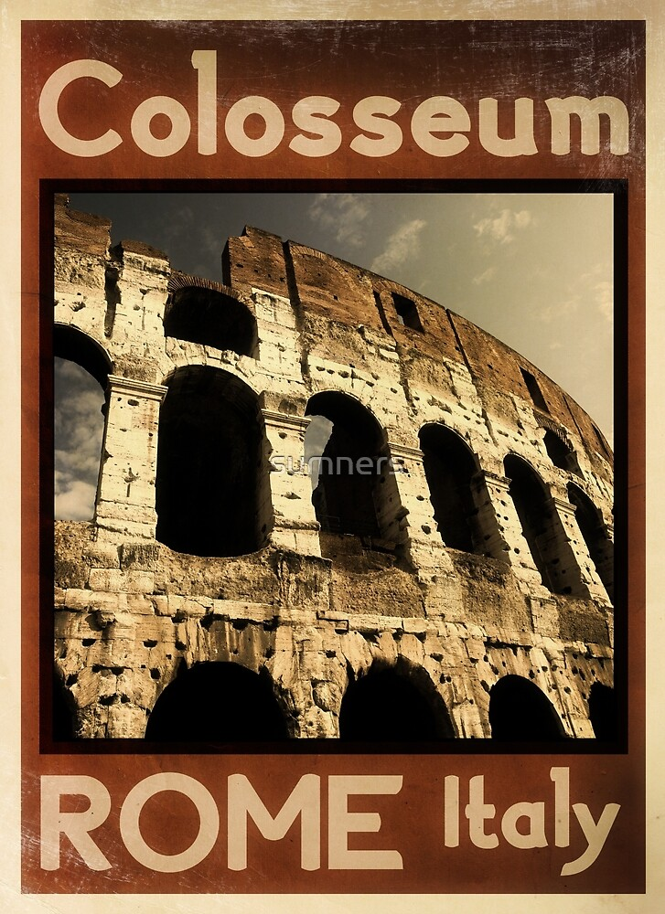 Rome Italy vintage poster by sumners