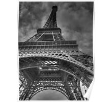 Eiffel Tower, Paris, France B&W Poster