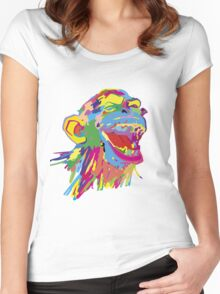 Laughing Ape – Multicoloured Women's Fitted Scoop T-Shirt