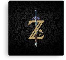 "The Legend of Zelda: Breath of the Wild - ""Z"" Logo Canvas Print"