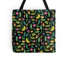 Flower Patch Dark Tote Bag