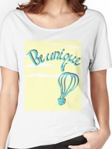 Hand drawn lettering: Be unique.  Women's Relaxed Fit T-Shirt