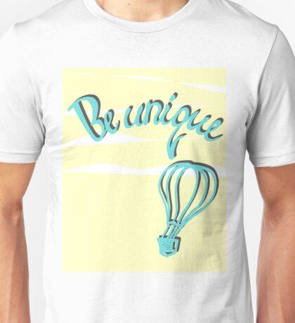 Hand drawn lettering: Be unique.  Unisex T-Shirt