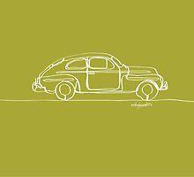 Volvo PV544 - Single Line by douglaswood