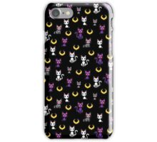 Sailor Moon Cats - Black iPhone Case/Skin
