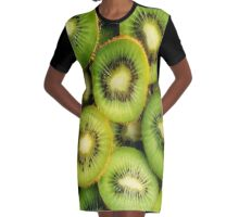 Kiwis  Graphic T-Shirt Dress