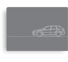 Audi A3 - Single Line Canvas Print