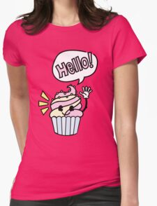 Cupcake - Hello Womens Fitted T-Shirt