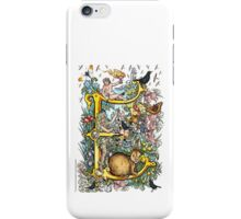 "The Illustrated Alphabet Capital  E  ""Getting personal"" iPhone Case/Skin"