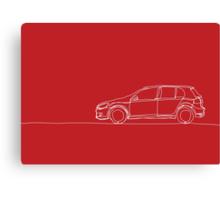 VW Golf - Single Line Canvas Print