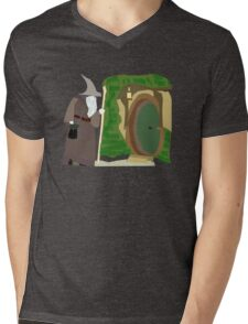 Theres a Wizard at the Door Mens V-Neck T-Shirt