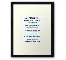 Napoleon Hill Quotes Framed Print