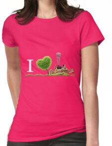 I Love Dozer Womens Fitted T-Shirt