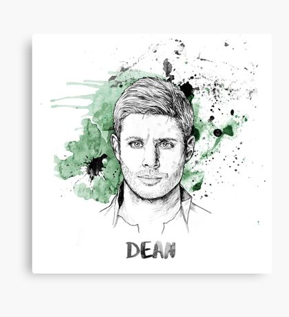 Dean Winchester Supernatural Canvas Print