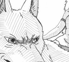 San And Wolf Sticker