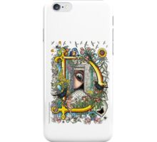 "The Illustrated Alphabet Capital  D  ""Getting personal"" iPhone Case/Skin"