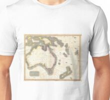 Vintage Map of Australia (1814) Unisex T-Shirt