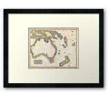 Vintage Map of Australia (1814) Framed Print