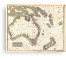 Vintage Map of Australia (1814) Canvas Print
