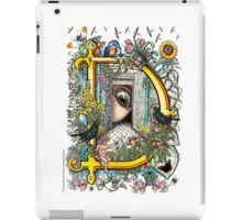 "The Illustrated Alphabet Capital  D  ""Getting personal"" iPad Case/Skin"
