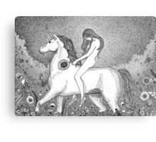 Lady Godiva and her unicorn Metal Print