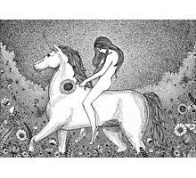 Lady Godiva and her unicorn Photographic Print