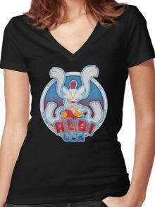 ALBI_GER Logo Women's Fitted V-Neck T-Shirt