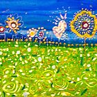 Redreaming Field of Flowers by WENDY BANDURSKI-MILLER