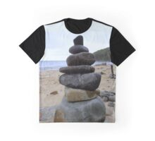 stone stack on the beach  Graphic T-Shirt