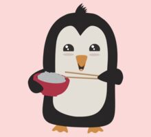Penguin with rice   Kids Tee