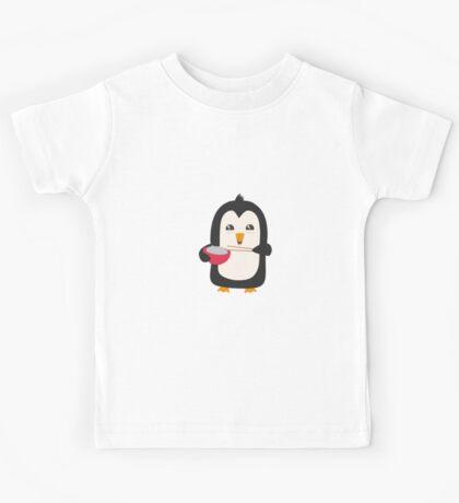 Penguin with rice   Kids Tee