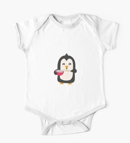 Penguin with rice   One Piece - Short Sleeve