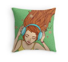 Summer, music and relax Throw Pillow