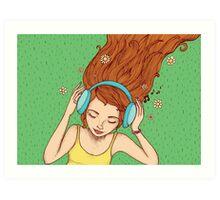 Summer, music and relax Art Print