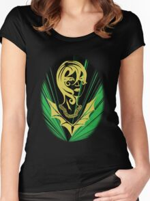 Sanity in Disguise (green) Women's Fitted Scoop T-Shirt