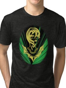Sanity in Disguise (green) Tri-blend T-Shirt