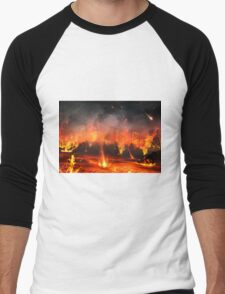 City Under Fire Men's Baseball ¾ T-Shirt