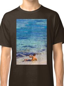Sexy guy at the beach Classic T-Shirt