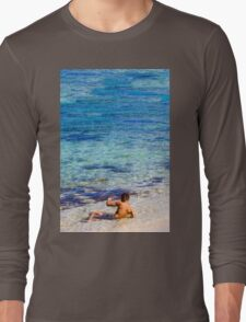 Sexy guy at the beach Long Sleeve T-Shirt