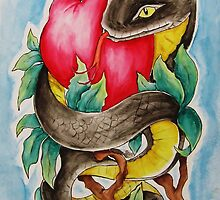 Snake and Apple by Cable Angel