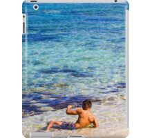 Sexy guy at the beach iPad Case/Skin