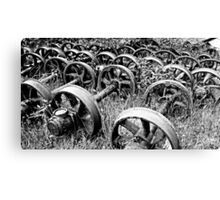 Rail Wheels 1 Canvas Print