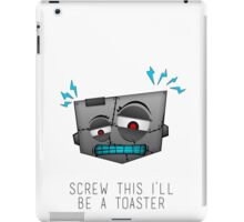 Confused Robot iPad Case/Skin