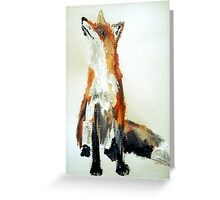The Fox Woodland Wild Animal Acrylics Painting Greeting Card